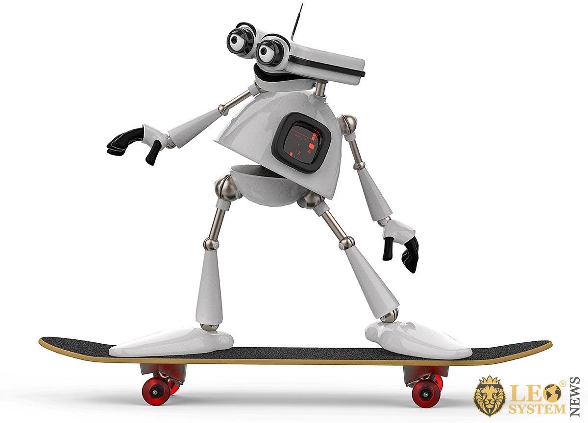Smart robot on a skateboard