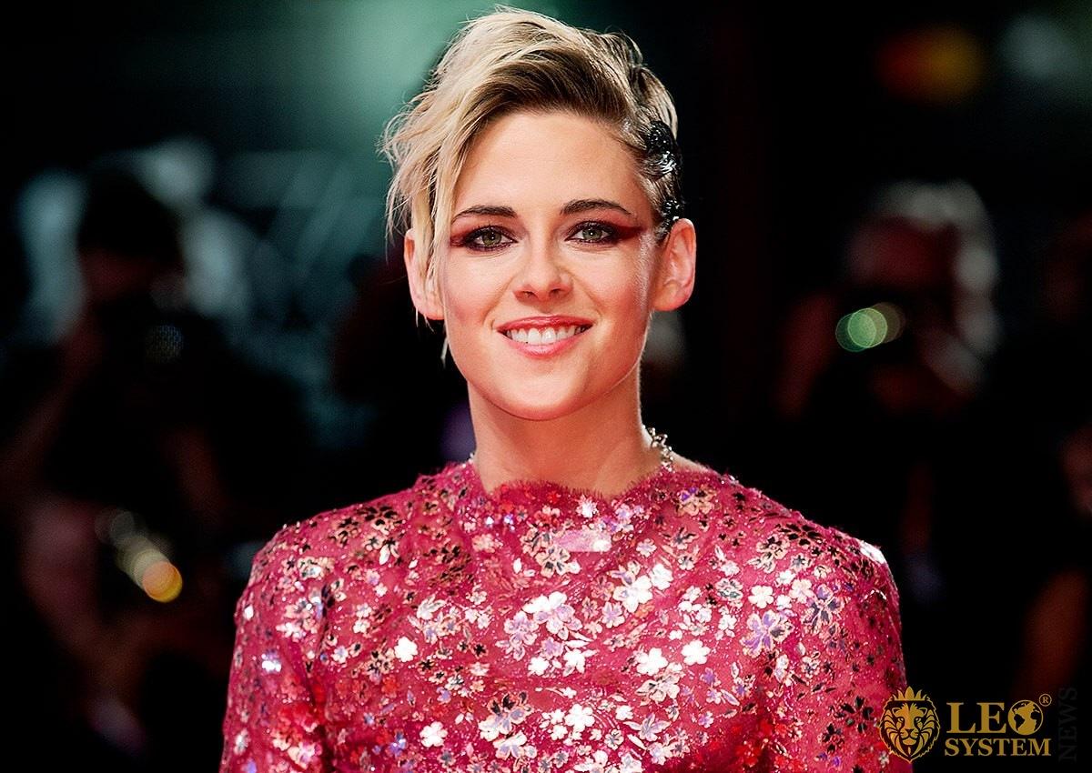 American actress Kristen Stewart smiles