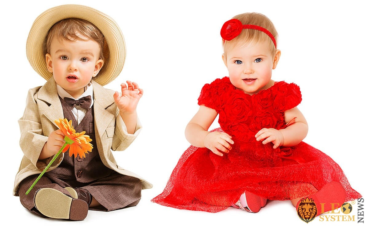 Image of children dressed in beautiful costumes