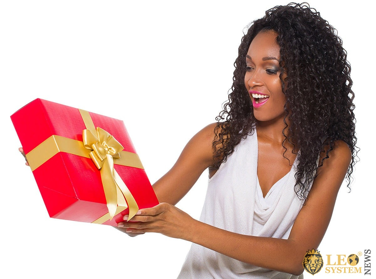 Young woman made herself a big gift