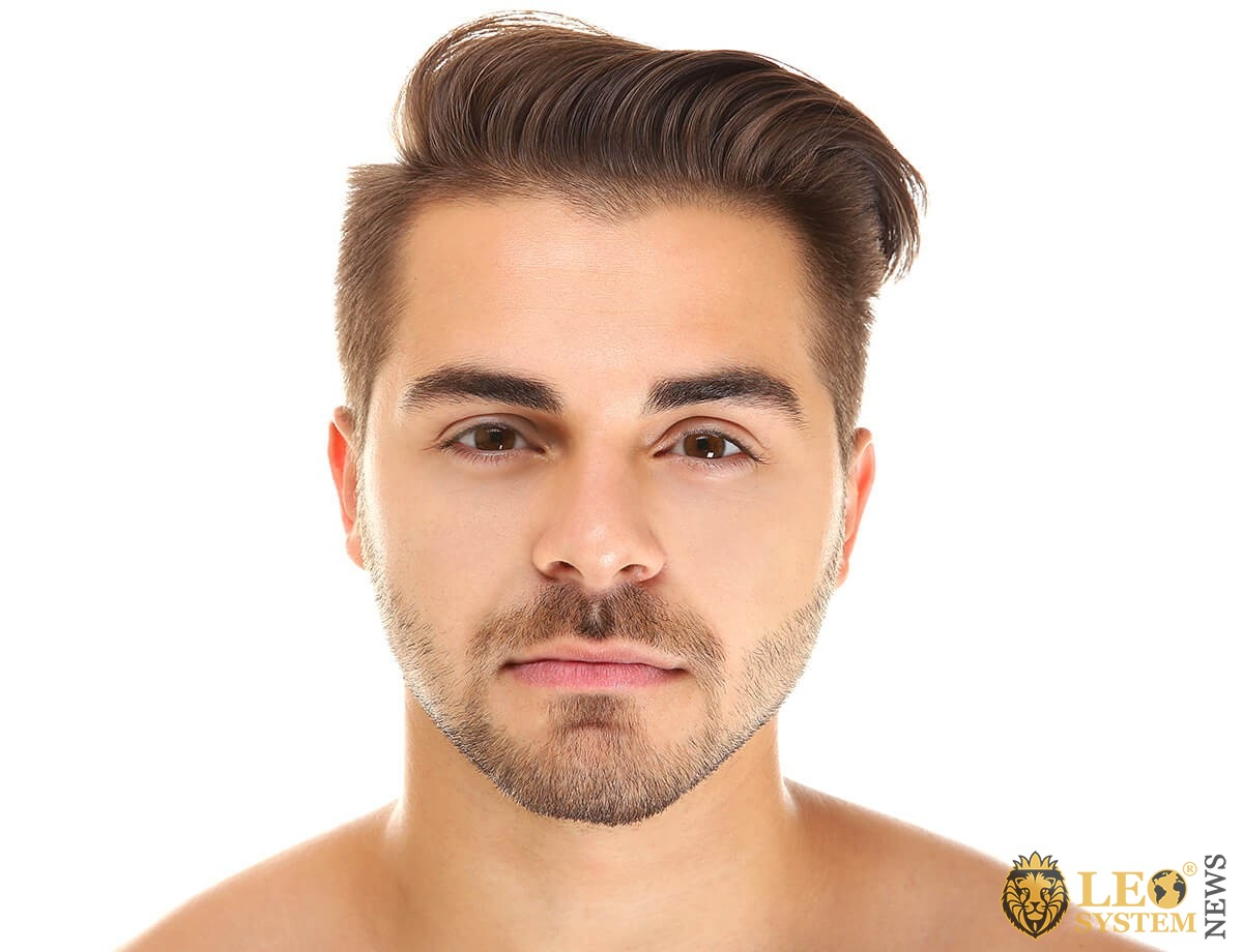 Pleasant man with an attractive face
