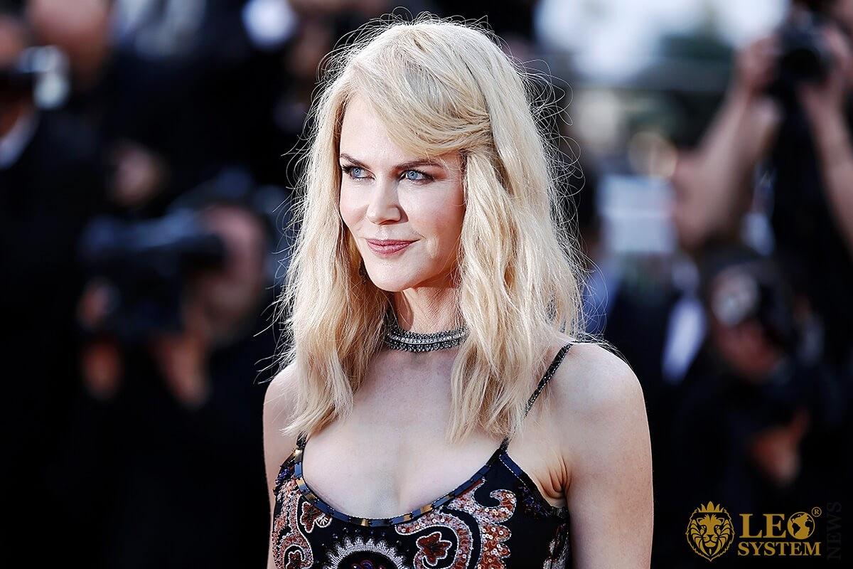 Actress Nicole Kidman smiles