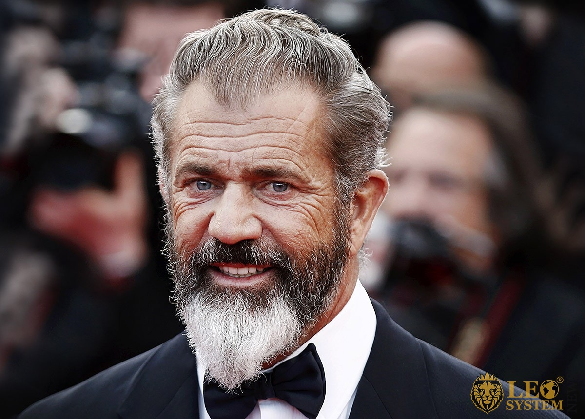 Luxury look of famous star man Mel Gibson