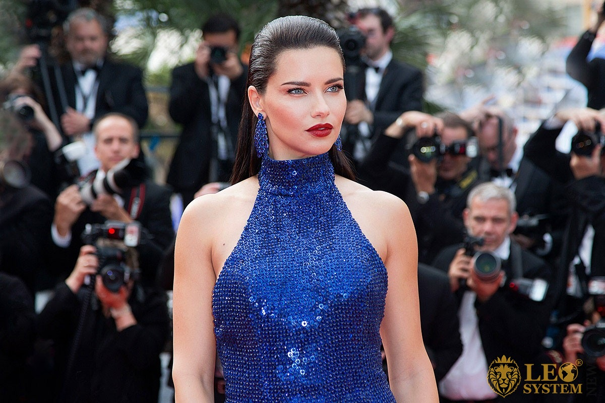 Image of the famous Brazilian model Adriana Lima