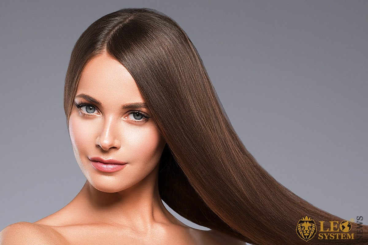 Image of an attractive woman with long hair