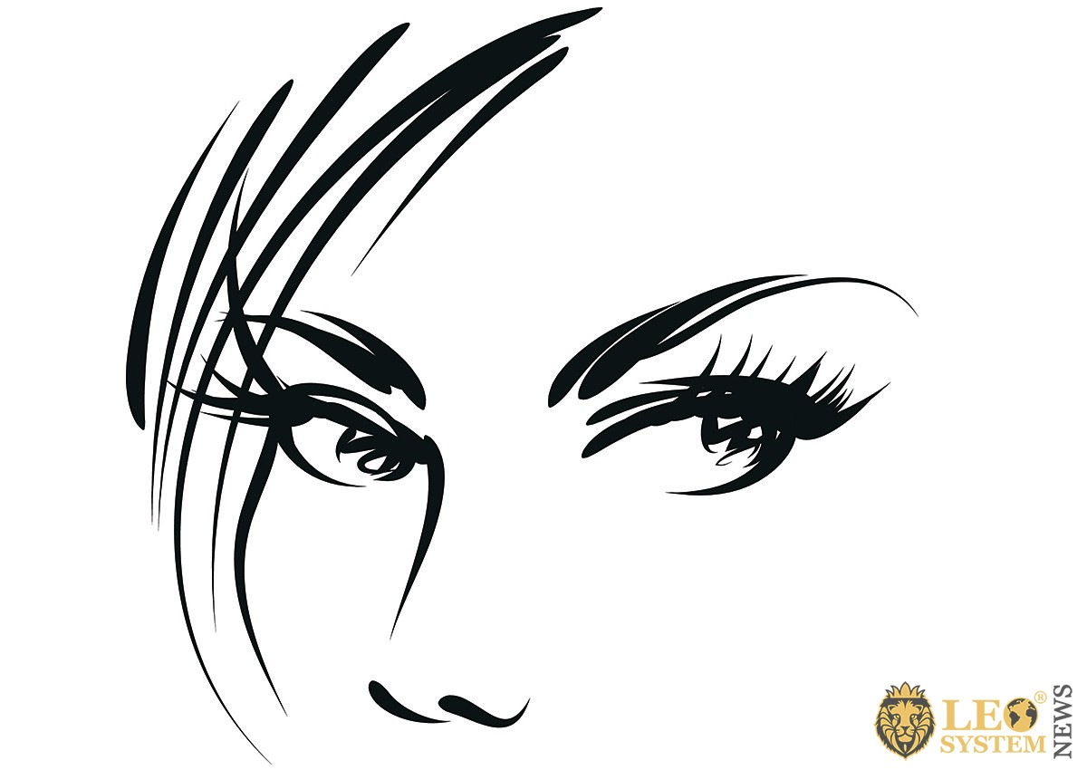 Image of a drawn look of a pretty girl