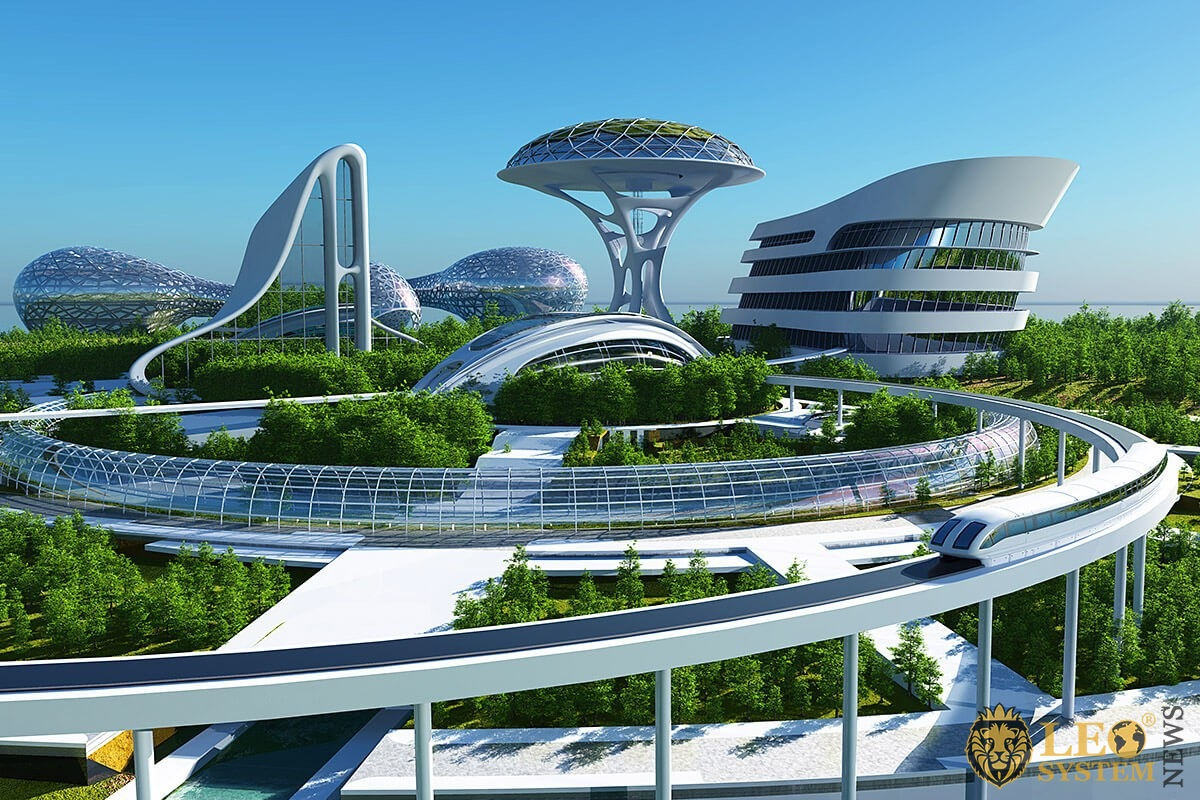 View of the evolutionary city of the future
