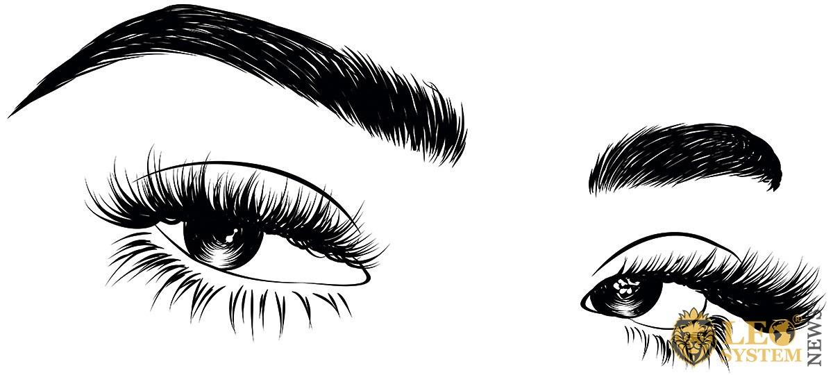 Image of drawn female eyes