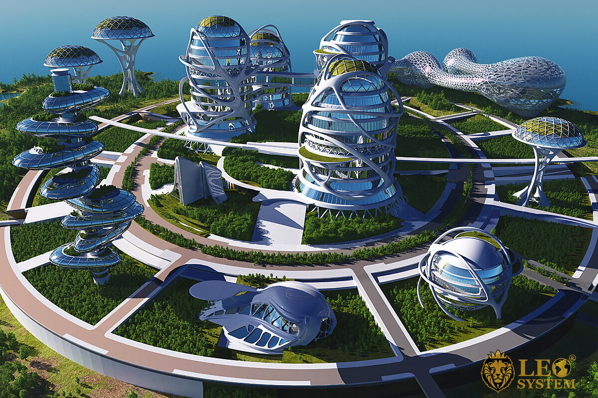 Image of high-tech buildings