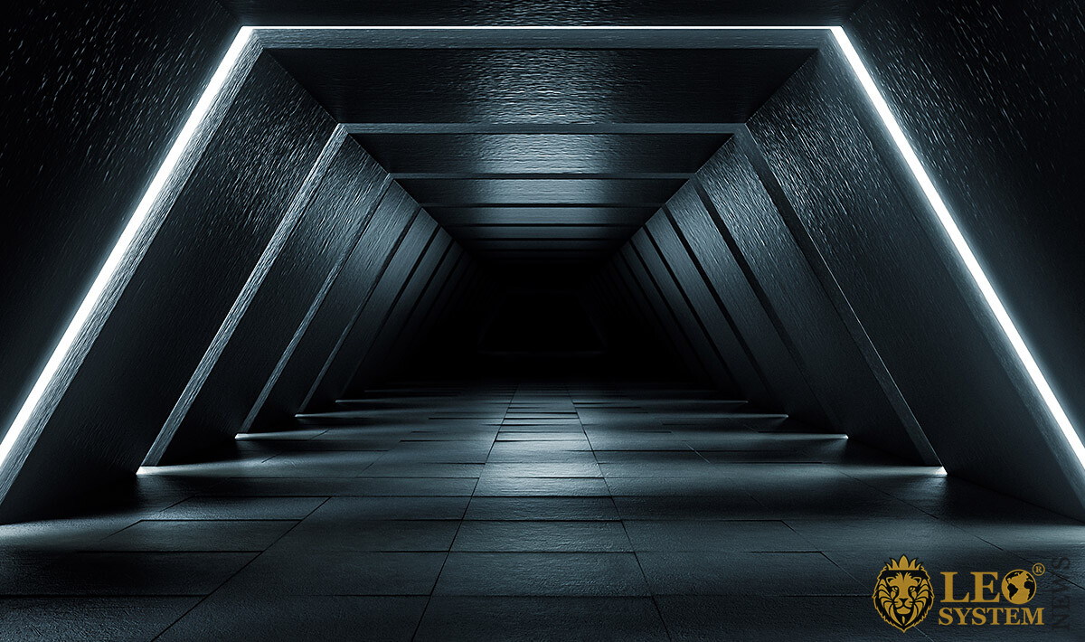 Image of a dark tunnel with backlight