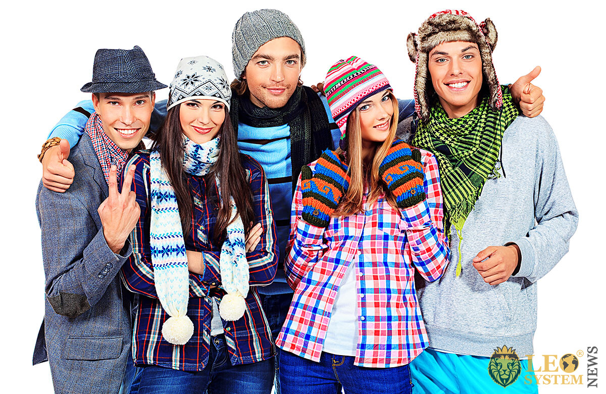 Image of a group of positive young people