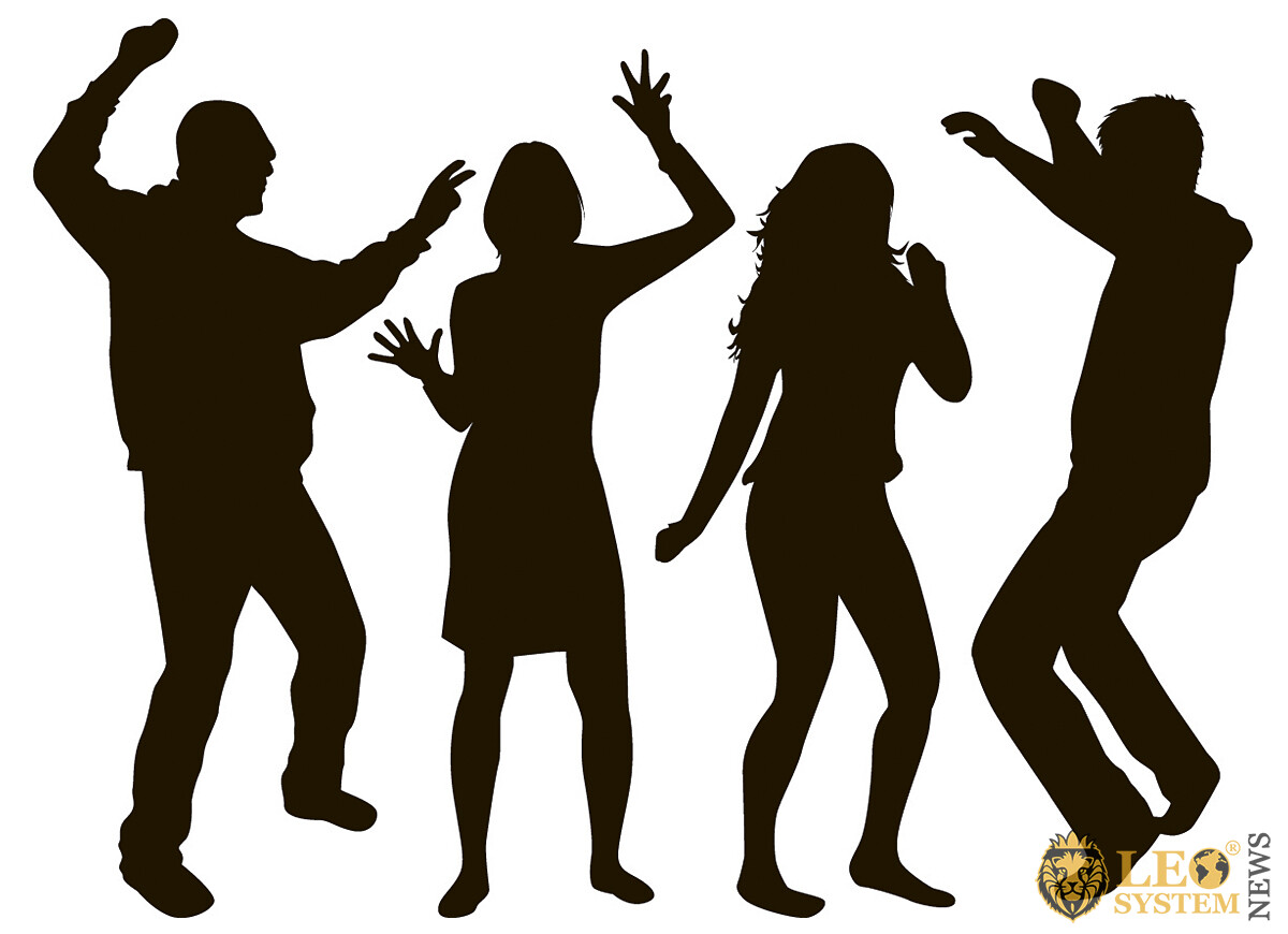 Image of cheerful and dancing people