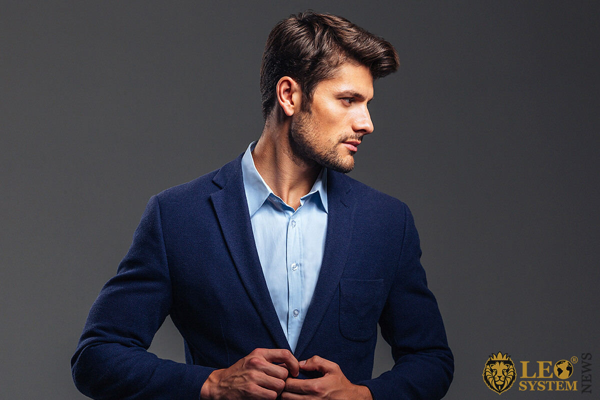 Image of a proud man in a business suit