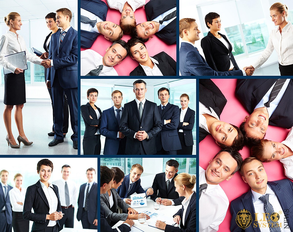 Image of a set of business people
