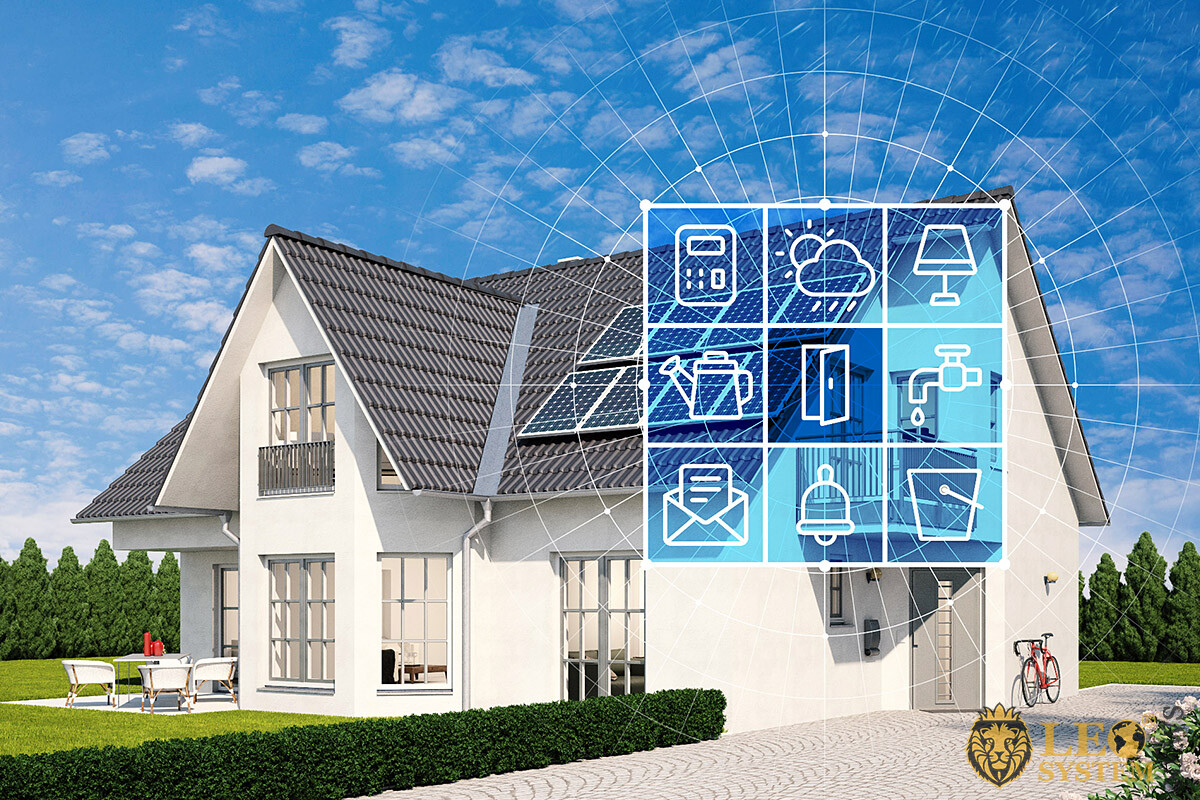 Image of a home with smart technology