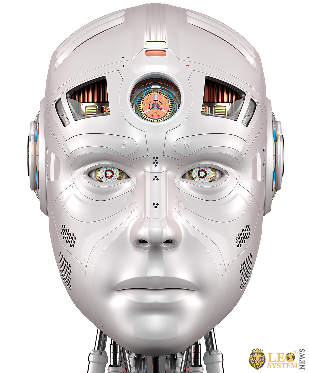 Image of the head of a quality robot