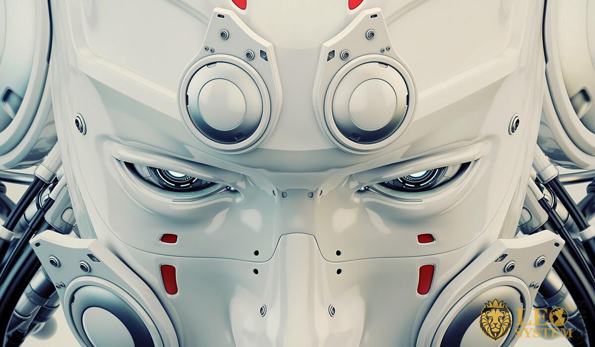 The piercing gaze of a humanoid robot