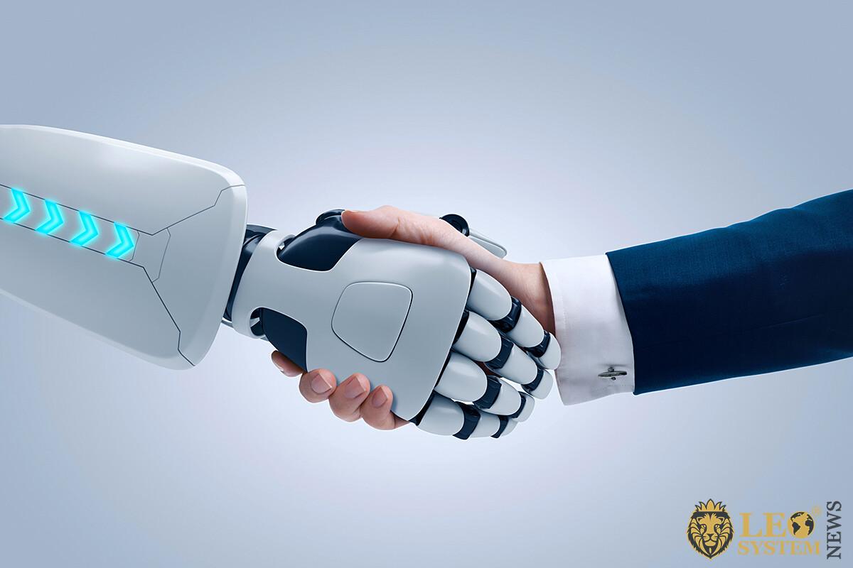 Strong handshake between robot and human