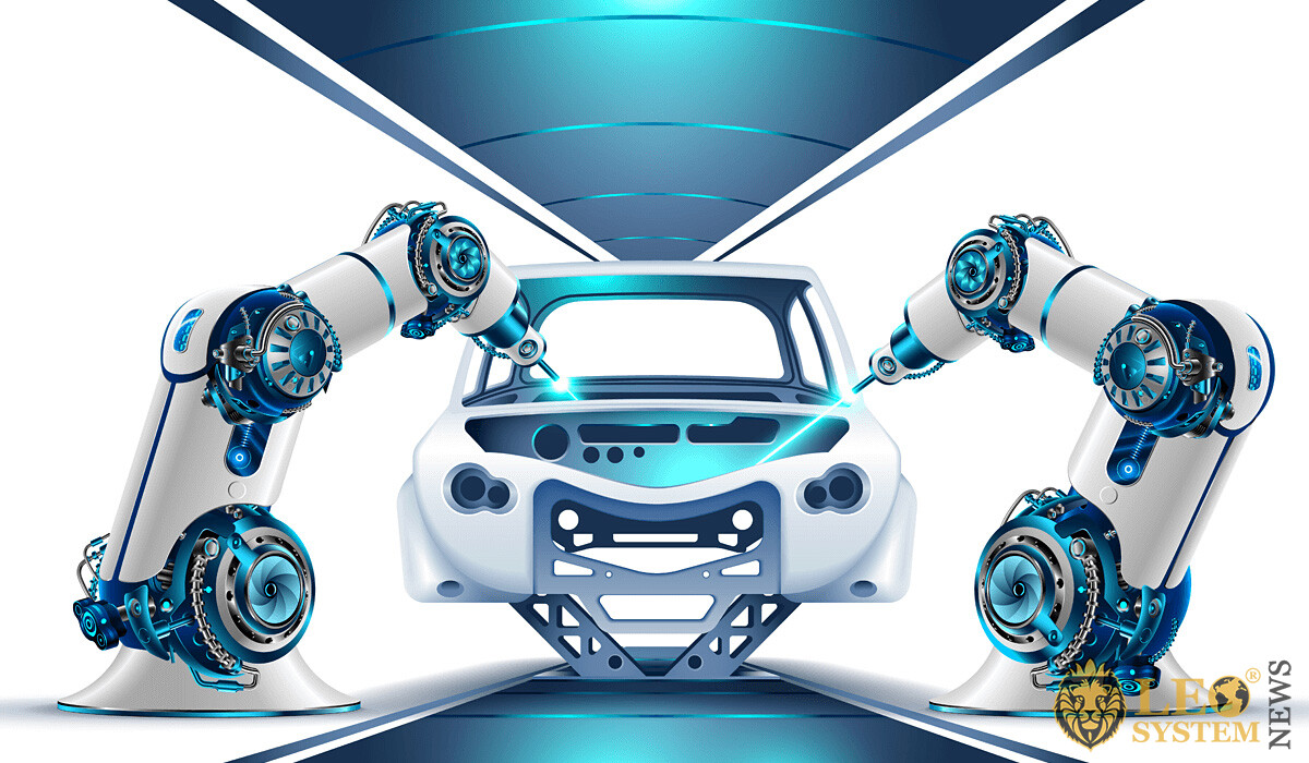 Technological process of assembling cars by robots
